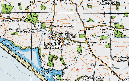 Old map of Langton Cross in 1919