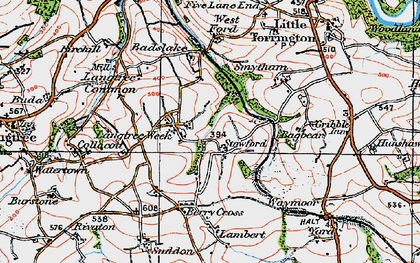 Old map of Bagbear in 1919