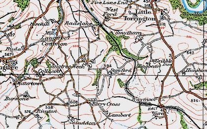 Old map of Badslake in 1919