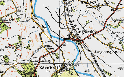 Old map of Langwathby in 1925