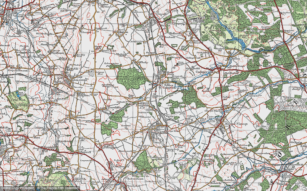 Old Map of Langwith, 1923 in 1923
