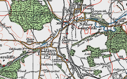 Old map of Langwith in 1923