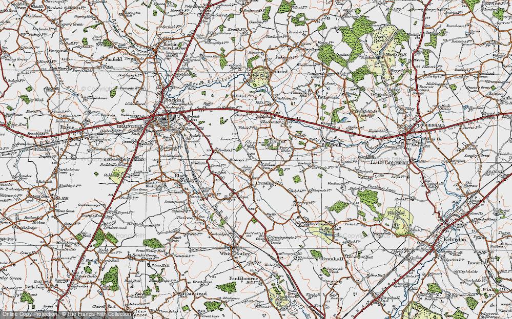 Old Map of Lanham Green, 1921 in 1921
