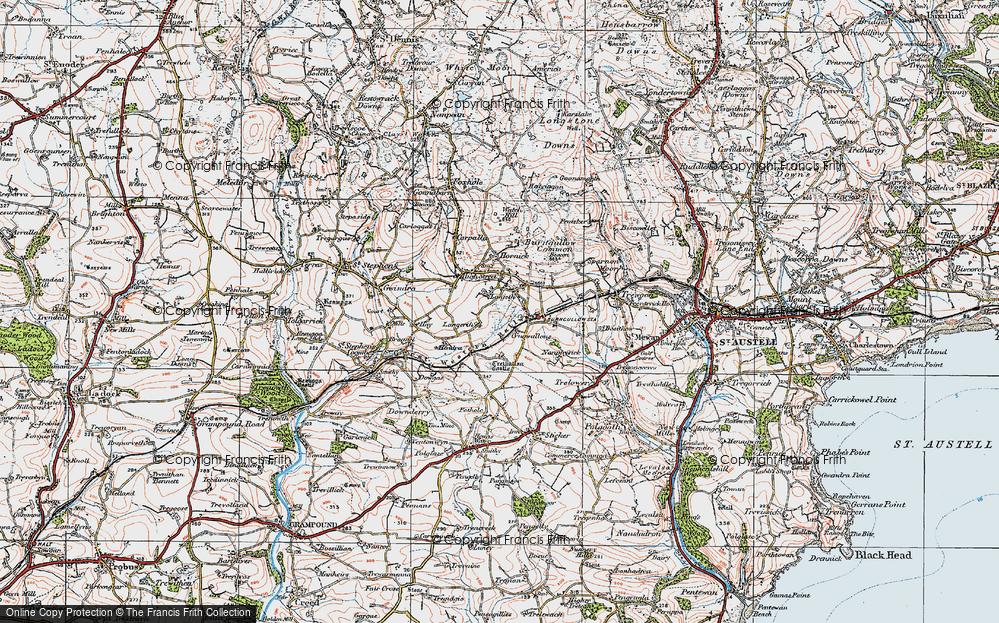 Old Map of Lanjeth, 1919 in 1919
