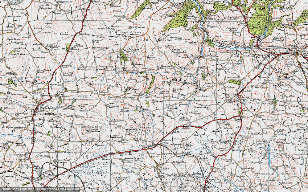 Old Map of Lanjew, 1919 in 1919