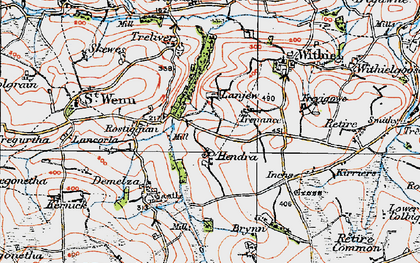 Old map of Lanjew in 1919