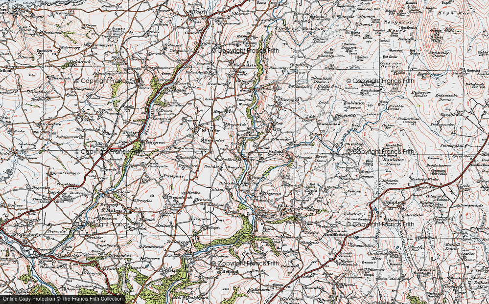 Old Map of Lank, 1919 in 1919