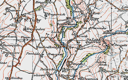 Old map of Lank in 1919