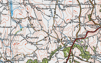 Old map of Lanlivery in 1919