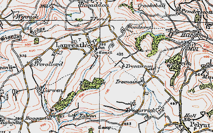 Old map of Lanreath in 1919