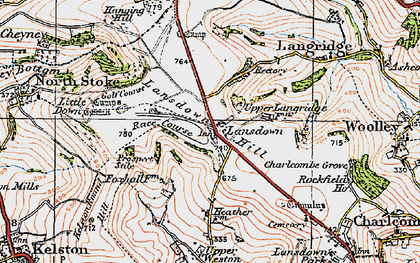 Old map of Lansdown in 1919