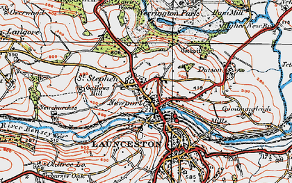 Old map of Lanstephan in 1919