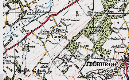 Old map of Lanton in 1926