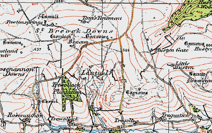 Old map of Lantuel in 1919