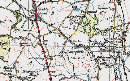 Old map of Lapworth in 1919