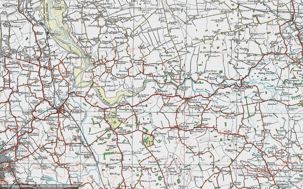 Old Map of Larbreck, 1924 in 1924