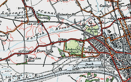 Old map of Ashton Park in 1924