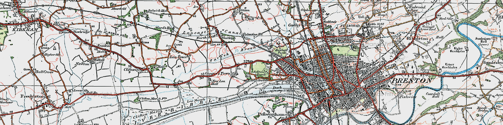 Old map of Larches in 1924