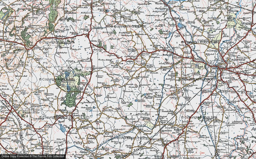 Old Map of Larden Green, 1921 in 1921