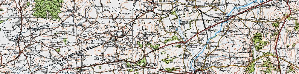 Old map of Larkbeare Court in 1919