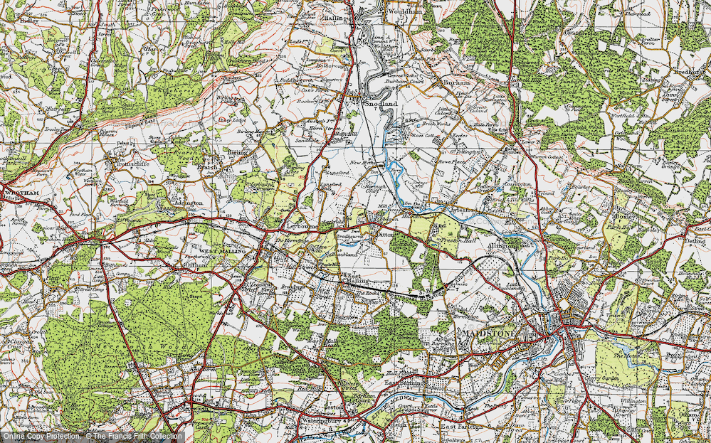 Old Map of Larkfield, 1920 in 1920