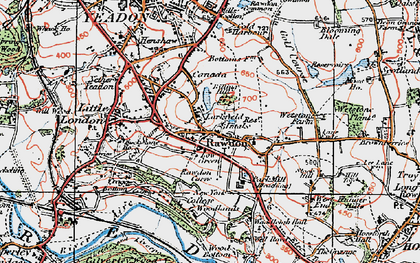 Old map of Larkfield in 1925
