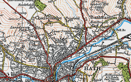 Old map of Larkhall in 1919