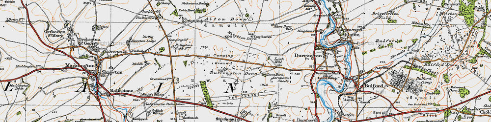 Old map of Alton Down in 1919