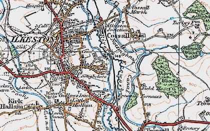 Old map of Larklands in 1921