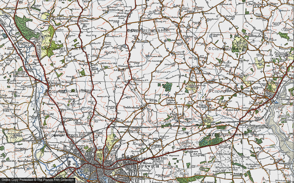 Old Map of Larks' Hill, 1921 in 1921