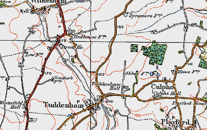 Old map of Larks' Hill in 1921