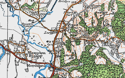Old map of Larport in 1920