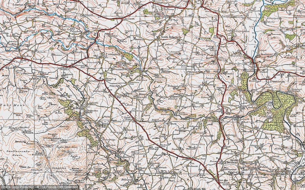Old Map of Larrick, 1919 in 1919
