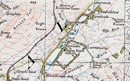 Old map of Leysburnfoot in 1926
