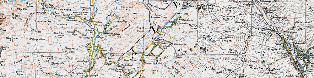 Old map of Larriston Rigg in 1926