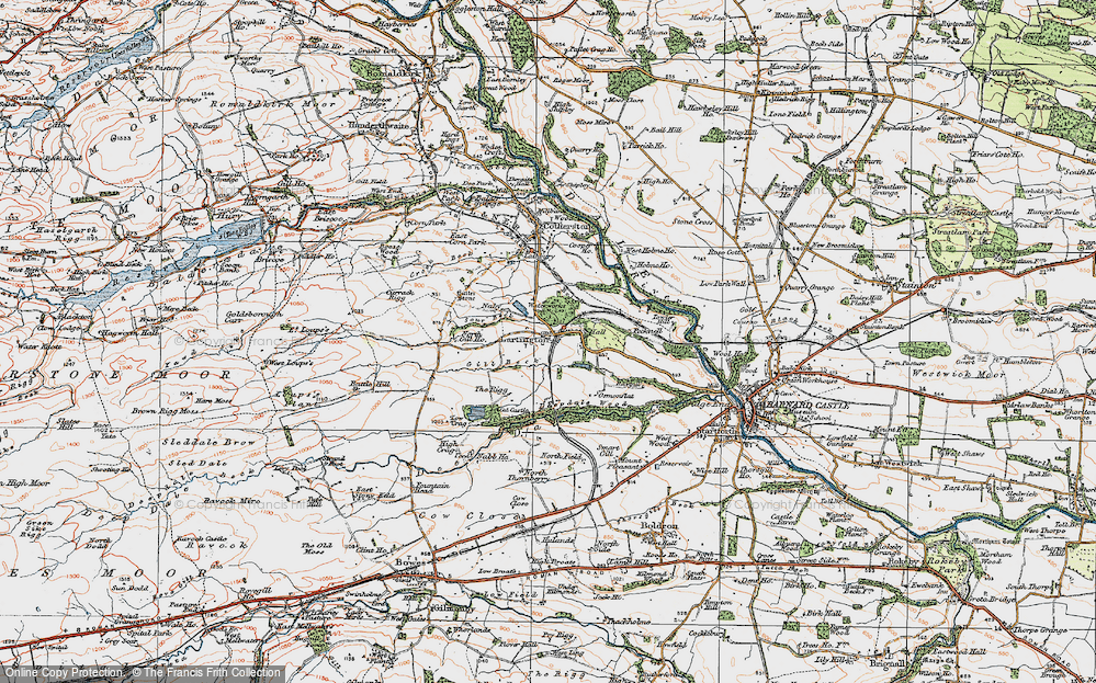 Old Map of Lartington, 1925 in 1925