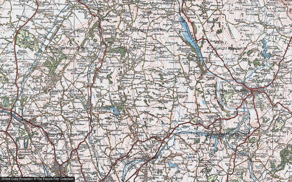Old Map of Historic Map covering Lanehead in 1923