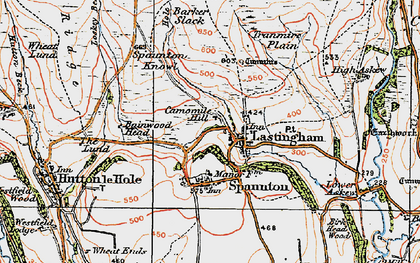 Old map of Bainwood Head in 1925
