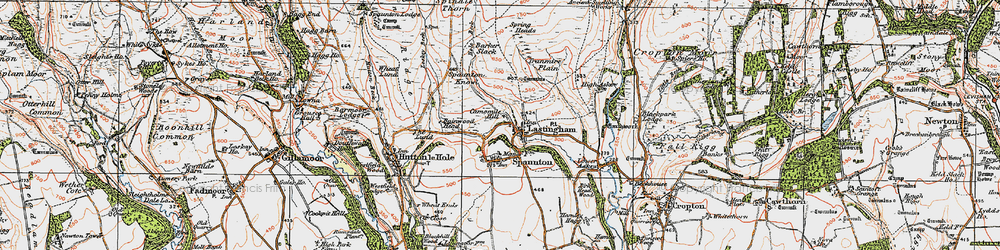 Old map of Lastingham in 1925