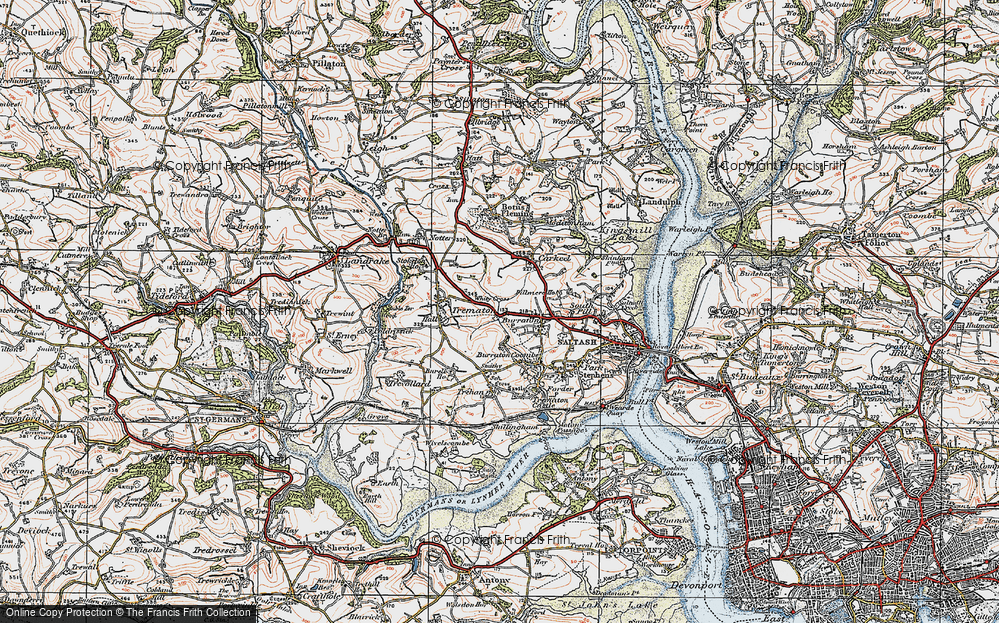 Old Map of Latchbrook, 1919 in 1919
