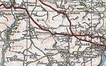 Old map of Latchbrook in 1919