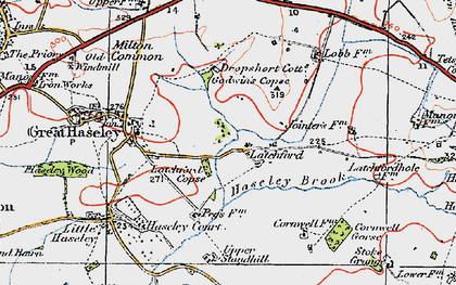 Old map of Latchford in 1919