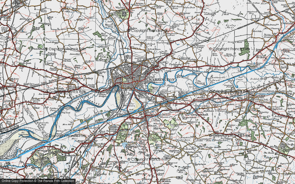 Old Map of Latchford, 1923 in 1923