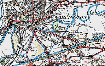 Old map of Latchford in 1923