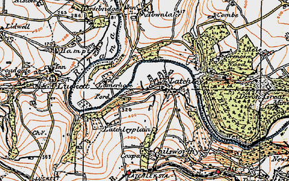 Old map of Latchley in 1919