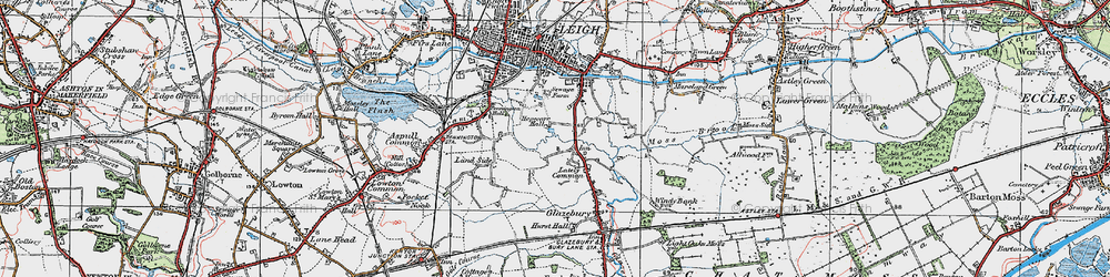 Old map of Lately Common in 1924