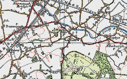 Old map of Lathom Ho in 1923
