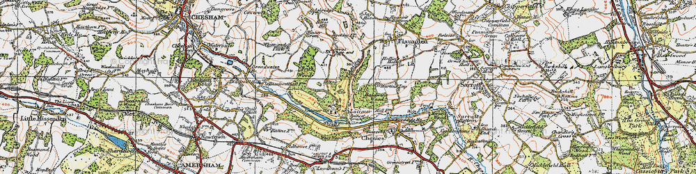 Old map of Latimer in 1920