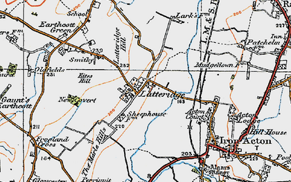 Old map of Latteridge in 1919