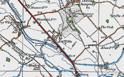 Old map of Latton in 1919